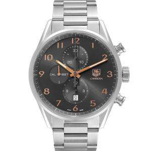 Tag Heuer Grey Stainless Steel Carrera 1887 Chronograph CAR2013 Men's Wristwatch 43 MM