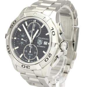 Tag Heuer Black Stainless Steel Aquaracer CAP2110 Chronograph Automatic Men's Wristwatch 42 MM
