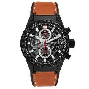 Tag Heuer Black Matte Ceramic Carrera Calibre 01 CAR2090 Men's Wristwatch 43 MM