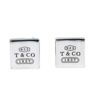Tiffany & Co. Classic Sterling Silver Square Cufflinks