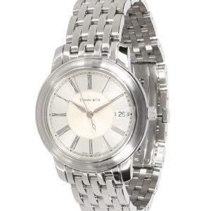 Tiffany & Co. Silver Stainless Steel Mark Resonator Men's Wristwatch 37 MM