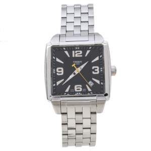 Tissot Black Stainless Steel Quadrato T005.510.A Men's Wristwatch 36 MM