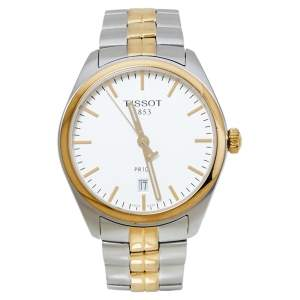 Tissot Silver White Two-Tone Stainless Steel PR100 T101.410.22.031.00 Men's Wristwatch 39 mm