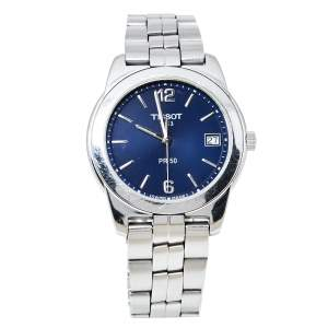 Tissot Blue Stainless Steel PR 50 Men's Wristwatch 36 mm