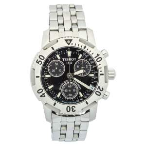 Tissot Black Stainless Steel Chronograph T-Sport PRS200 Men's Wristwatch 40mm