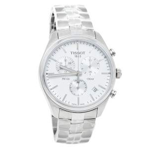 Tissot Silver Stainless Steel T Sport PR100 T101.417.11.031.00 Men's Wristwatch 41 mm