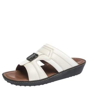 Tod's White Leather Open Toe Sandals Size 39.5