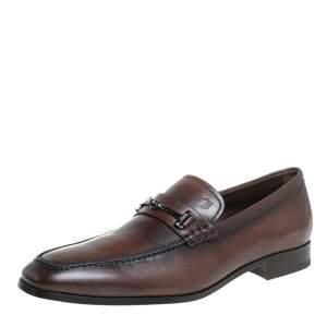 حذاء لوفرز تودز سليب أون مزين هورسبيت جلد بني مقاس 41.5