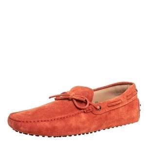 حذاء لوفرز تودز دريفينغ غومينو سويدي برتقالي مقاس 44