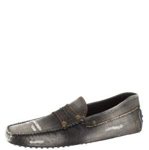 حذاء لوفرز تودز سليب أون بينى غومينو قماش دنيم لونين مقاس 44.5