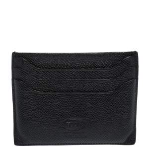 Tod's Black Leather Pocket Card Holder