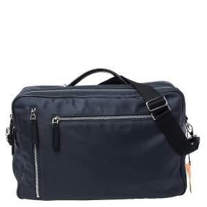 حقيبة ظهر/ مستندات تودز قابلة للتحويل نايلون وجلد أزرق/ أسود بسحاب