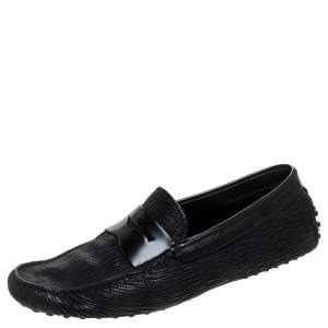 Tod's Black Leather Gommino Driving Loafers Size 42