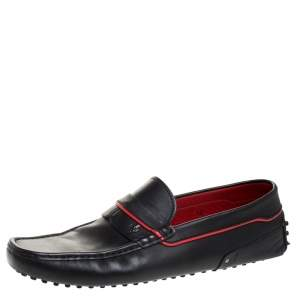 Tod's For Ferrari Black Leather Slip On Loafers Size 44.5