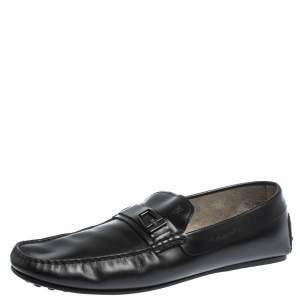 حذاء لوفرز تودز بطراز سليب أون جلد أسود مقاس 44.5