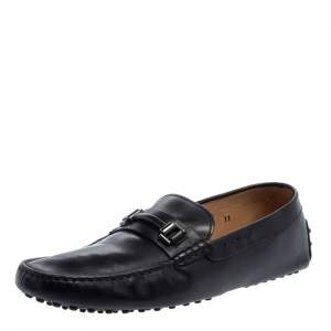 حذاء لوفرز تودز سليب أون جلد أسود مقاس 44.5