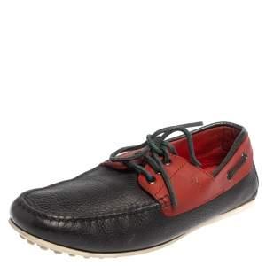 حذاء لوفرز تودز رباط جلد أحمر / كحلي مقاس 41