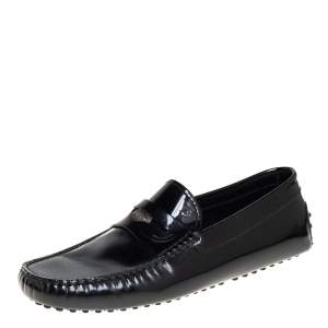 Tod's Black Patent Leather Penny Slip On Loafers Size 41.5
