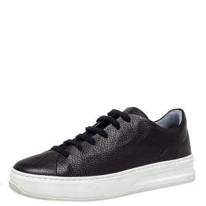 Tod's Black Leather Low Top Sneakers Size 40