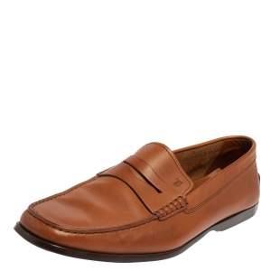حذاء لوفرز تودز سير بيني سليب أون جلد بني مقاس 44