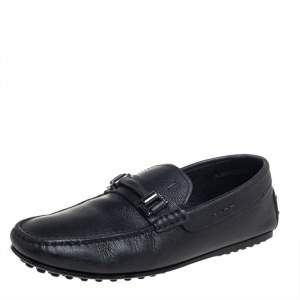 Tod's Black Leather Slip On Loafers Size 39