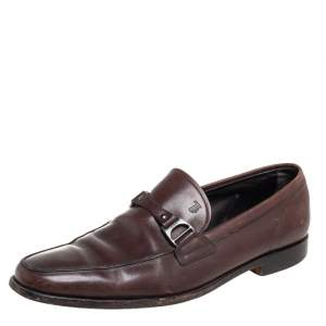 Tod's Brown Leather Slip On Loafers Size 43
