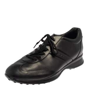 Tod's Black Leather Low Top Sneakers Size 42
