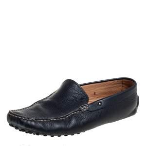 Tod's Navy Blue Leather Slip On Loafer Size 42