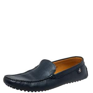 Tod's Blue Leather Slip on Loafers Size 45.5