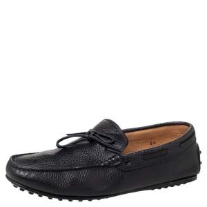 Tod's Black Leather Slip on Loafers Size 40