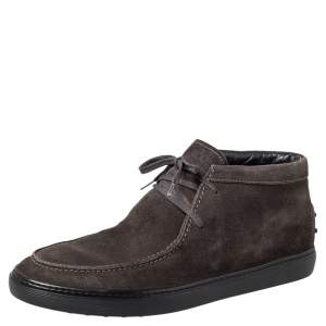 Tod's Brown Suede Lace Up Boots Size 42.5
