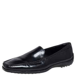 Tod's Black Leather Slip On  Loafers Size 36