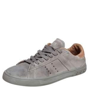 Tod's Grey Suede Low Top Snekaers Size 44