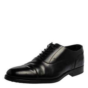 Tod's Black Leather Lace Up Oxfords Size 45