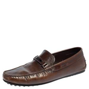 Tod's Brown Leather Slip On Loafers Size 41