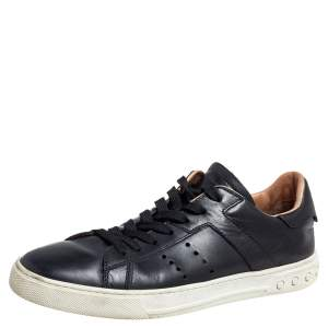 Tod's Black Leather Lace up  Sneakers Size 41