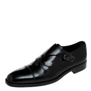 Tod's Black Patent Leather Single Flap Oxford Monks 42