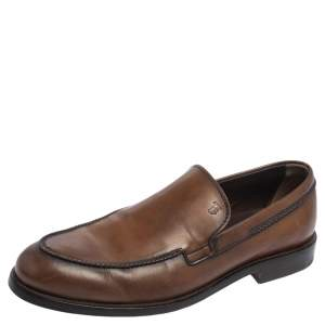 Tod's Brown Leather Slip On Loafers Size 42