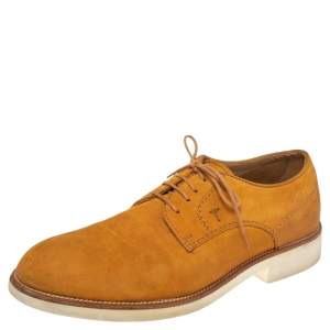 Tod's Yellow Nubuck Leather Lace Up Oxfords Size 43