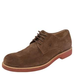 Tod's Brown Suede Lace Up Oxfords Size 42.5
