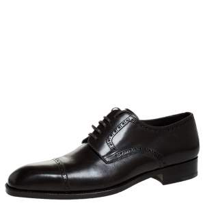 Tom Ford Brown Leather Lace Up Oxfords Size 45