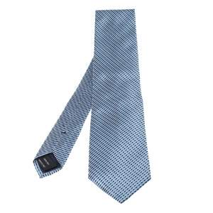 Tom Ford Pale Blue Metallic Detail Silk Tie
