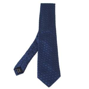 Tom Ford Blue Dot Patterned Textured Silk Tie