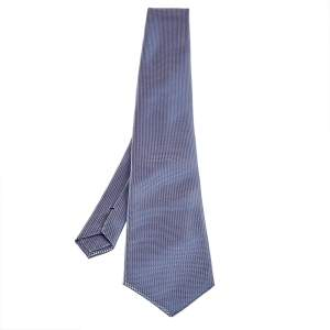 Tom Ford Lavender Basketweave Silk Jacquard Traditional Tie