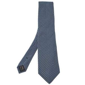 Tom Ford Blue Silk Blend Jacquard Tie