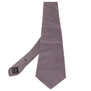 Tom Ford Purple Stripe Textured Silk Traditional Tie