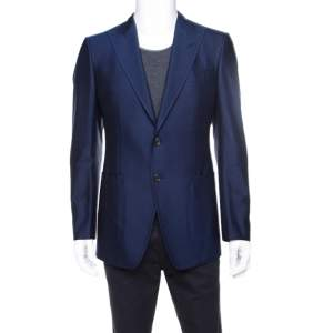 Tom Ford Royal Blue Silk Twill Tailored Blazer M