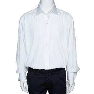 Tom Ford White Cotton Double Cuff Long Sleeve Shirt 4XL