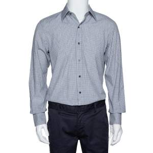 Tom Ford Monochrome Checked Cotton Long Sleeve Shirt M