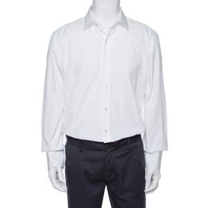 Tom Ford White Cotton Button Front Long Sleeve Shirt 3XL